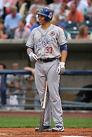 Las Vegas 51's first baseman James Loney #33 during the Triple-A All-Star Game at Fifth Third Field on July 12, 2006 in Toledo, Ohio.  (Mike Janes/Four Seam Images)