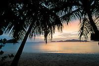 Smugglers Cove, Tortola sunset showing  Jost Van Dyke in the British Virgin Islands