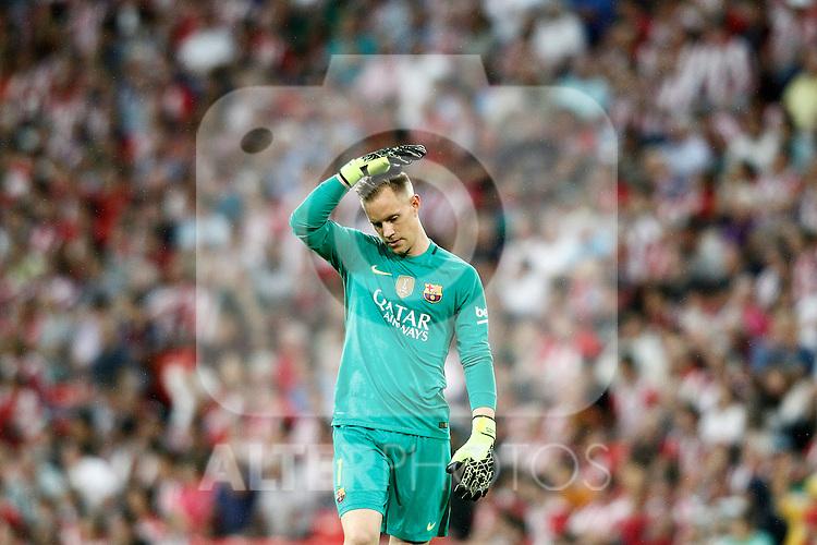 FC Barcelona's Marc-Andre Ter Stegen during La Liga match. August 28,2016. (ALTERPHOTOS/Acero)