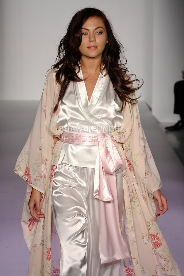 Model walks runway in an outfit Telina Webb for her KabukiU Spring 2012 fashion show, at Nolcha Fashion Week Spring 2012.