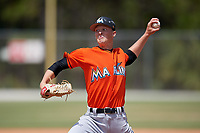 Miami Marlins pitcher Dakota Bennett during a Minor League Spring Training game against the St. Louis Cardinals on March 26, 2018 at the Roger Dean Stadium Complex in Jupiter, Florida.  (Mike Janes/Four Seam Images)