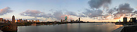 panorama from Longfellow Bridge - 7 parts, Boston, MA