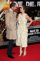 Charlotte Riley and Tom Hardy arriving at the premiere of 'Edge Of Tomorrow', at the IMAX, London. 28/05/2014 Picture by: Alexandra Glen / Featureflash