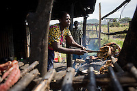 "Jane, a  former sex worker gave up prostitution and  runs a small fish stand in Homa Bay, Kenya. .In her words:.""When I started in this business of fish, there were so many of us. Competition was strong. Getting fish to sell was a problem. There were men admiring us and ready to sleep with you in broad daylight. There were women going along and they bought fish very easily. My husband was still alive and had no job. We had children. So it forced me to compromise for the daily bread...""If I look for the lives of my colleagues at that time, I cant see them. They have all died. When I realized I had the virus, I realized I would die if I continued living that way. With the ARVs, I knew I would live longer and it gave me a moment to plan. My husband was dead and I was alone. I needed to respect my children. I had to plan how I was going to live...""People understand things differently, they perceive things differently. I understood my life differently than others and decided to live it in my own way...""What I am trying to say to whoever will listen is that you must think strategically, especially if you are HIV positive. You have to think, 'Take care and not poison other people'. There is no reason to die early. Life is how you take it...""Treatment has changed my life and replaced despair with hope."""