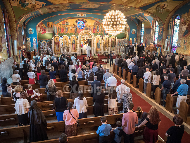 Vespers and the greeting of Patriarch Irinej at Holy Resurrection Serbian Orthodox Church, Chicago.
