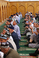 Uzbekistan, Khiva. Sayid Niaz Shekilarbeg Mosque. Friday noon prayer.