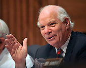 "Washington, DC - July 7, 2009 -- United States Senator Benjamin Cardin (Democrat of Maryland) questions a witness during the U.S. Senate Committee on Environment and Public Works hearing entitled, ""Moving America toward a Clean Energy Economy and Reducing Global Warming Pollution: Legislative Tools."" in Washington, D.C. on Tuesday, July 7, 2009. The legislation being considered is known as a cap-and-trade bill that would place mandatory limits on the emissions of the greenhouse gases that are said to cause global warming..Credit: Ron Sachs / CNP"