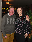 Mossie Grogan and Rachel Flood at the launch of Newtown Blues Strictly Come Dancing in Garvey's. Photo:Colin Bell/pressphotos.ie