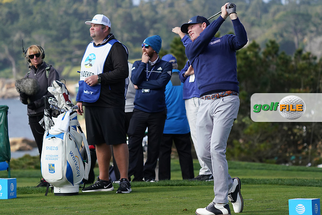 Brandt Snedeker (USA) during the third round of the AT&T Pro-Am, Pebble Beach, Monterey, California, USA. 07/02/2020<br /> Picture: Golffile | Phil Inglis<br /> <br /> <br /> All photo usage must carry mandatory copyright credit (© Golffile | Phil Inglis)
