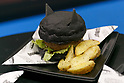 Batman burger on display during the Tokyo Comic Con 2017 at Makuhari Messe International Exhibition Hall on December 1, 2017, Tokyo, Japan. This is the second year that San Diego Comic-Con International held the event in Japan. Tokyo Comic Con runs from December 1 to 3. (Photo by Rodrigo Reyes Marin/AFLO)