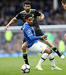 Diego Costa of Chelsea and Ashley Williams of Everton during the English Premier League match at Goodison Park , Liverpool. Picture date: April 30th, 2017. Photo credit should read: Lynne Cameron/Sportimage