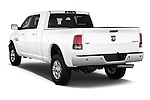 Car pictures of rear three quarter view of a 2017 Ram 2500 Laramie Mega Cab 4 Door Truck Angular Rear