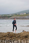 The first out Dillon Fitzgerald at the  Ballyheigue Festival Swim on Thursday