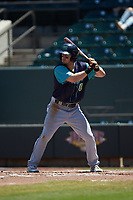 Tyler Friis (8) of the Lynchburg Hillcats at bat against the Winston-Salem Rayados at BB&T Ballpark on June 23, 2019 in Winston-Salem, North Carolina. The Hillcats defeated the Rayados 12-9 in 11 innings. (Brian Westerholt/Four Seam Images)