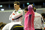 Berlin, Germany, February 09: During the FIH Indoor Hockey World Cup Pool B group match between Germany (black) and Australia (yellow) on February 9, 2018 at Max-Schmeling-Halle in Berlin, Germany. Final score 2-2. (Photo by Dirk Markgraf / www.265-images.com) *** Local caption ***