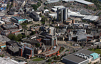 Aerial view of the city centre of Swansea