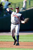 June 21, 2009:  Third Baseman Mike Hessman of the Toledo Mud Hens in the field during a game at Frontier Field in Rochester, NY.  The Toledo Mud Hens are the International League Triple-A affiliate of the Detroit Tigers.  Photo by:  Mike Janes/Four Seam Images