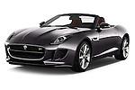 2016 Jaguar F Type S 2 Door Convertible Angular Front stock photos of front three quarter view
