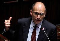 20130429 ROMA-POLITICA: ENRICO LETTA CHIEDE LA FIDUCIA ALLA CAMERA