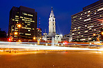 A view of City Hall from the Benjamin Franklin Parkway in Philadelphia, Pennsylvania