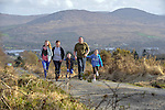 HEALTH: John and Ka O'Sullivan with their son Sean  and daughters Karen (13) and Abby (10) 'running up the hill' outside Kenmare in preparation for the Jack & Jill Foundation 10k run  on April27th..Picture by Don MacMonagle.Story by Deirdre Veldon