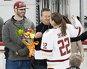 Dylan Skarupa, Tony Skarupa, Haley Skarupa (BC - 22) - The Boston College Eagles defeated the visiting Providence College Friars 7-1 on Friday, February 19, 2016, at Kelley Rink in Conte Forum in Boston, Massachusetts.
