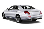 Car pictures of rear three quarter view of a 2018 Mercedes Benz E Class Business Solution 4 Door Sedan angular rear
