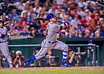 28 April 2017: New York Mets infielder T.J. Rivera in action against the Washington Nationals at Nationals Park in Washington, DC. The Mets defeated the Nationals 7-5 to take the first game of their 3-game weekend series. Mandatory Credit: Ed Wolfstein Photo *** RAW (NEF) Image File Available ***