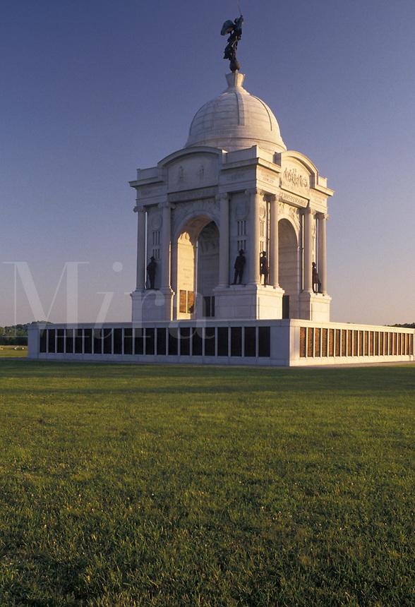 AJ4050, Gettysburg, civil war, battlefield, Gettysburg National Military Park, Pennsylvania, Pennsylvania Memorial in Gettysburg Nat'l Military Park in Gettysburg in the state of Pennsylvania.