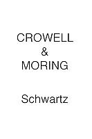 Crowell & Moring SCHWARTZ