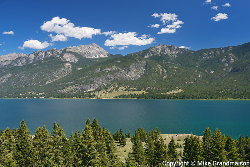 Columbia Lake and the Rocky Mountains, Near Canal Flats, British Columbia, Canada