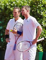 15-07-12, Netherlands,Tennis, ITS, HealthCity Open, Scheveningen, Final dubbles, Boy Westerhof and Antal v/d Duim®.
