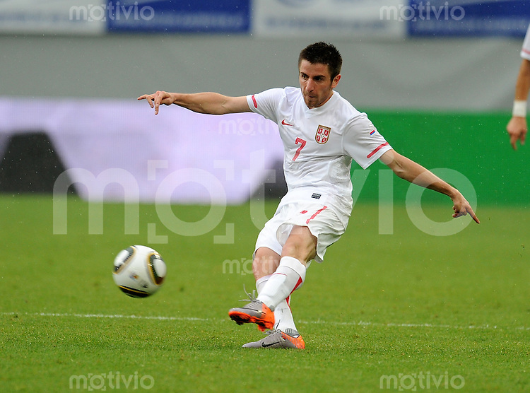 Fussball International:  Testspiel   29.05.2010 Neuseeland - Serbien  Zoran TOSIC (Serbien)