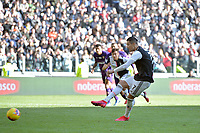 2nd February 2020; Allianz Stadium, Turin, Italy; Serie A Football, Juventus versus Fiorentina; Cristiano Ronaldo of Juventus scores the second goal from a penalty kick in the 80th minute