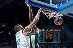 Real Madrid Walter Tavares and Panathinaikos Chris Singleton during Turkish Airlines Euroleague Quarter Finals 4th match between Real Madrid and Panathinaikos at Wizink Center in Madrid, Spain. April 27, 2018. (ALTERPHOTOS/Borja B.Hojas)