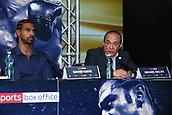 4th October 2017, Park Plaza, London, England; Tony Bellew versus David Haye, The Rematch, Press Conference;  Cuban trainer Ismael Salas and David Haye trainer speaking during the Press Conference