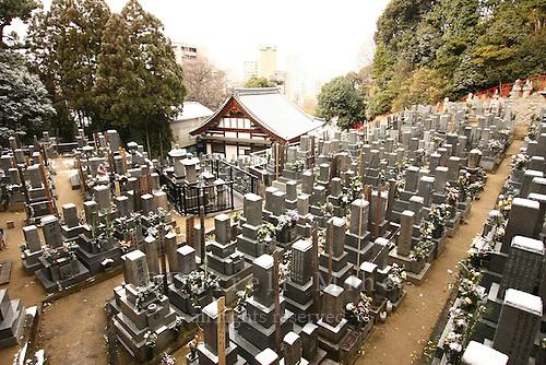 Jan. 24, 2009; Hiroshima, Japan - cemetery at the Tamon-in Temple.