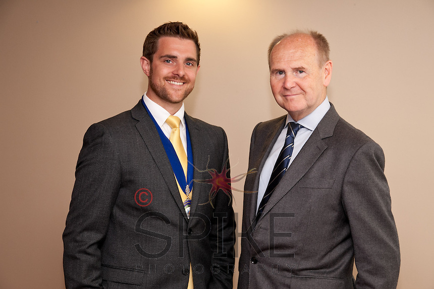 The two Johnnies - NCBC Club President Jonathan English with keynote speaker Sir John Pearce, the  Lord-Lieutenant of Nottinghamshire