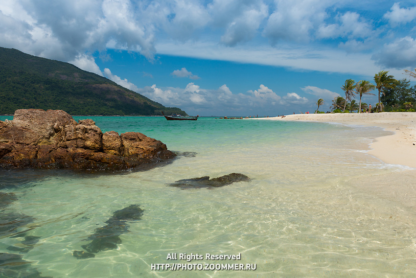 Koh Lipe most beautiful empty beach with crystal clear pristine water of Andaman sea, Thailand