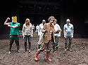 A Midsummer Night's Dream by William Shakespeare. Directed by Joe Hill-Gibbins. With Aaron Heffernan as Francis Flute,Leo Bill as Bottom,Geoff Aymer as Tom Snout, Matthew Steer as Peter Quince, Douggie McMeekin as Snug, Sam Cox as Robin Starveling. Opens at The Young Vic  Theatre on 23/2/17. CREDIT Geraint Lewis