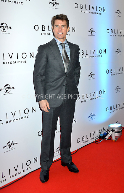 WWW.ACEPIXS.COM....US Sales Only....April 3 2013, Dublin....Tom Cruise at the premiere of 'Oblivion' at the Savoy Cinema on April 3 2013 in Dublin ....By Line: Famous/ACE Pictures......ACE Pictures, Inc...tel: 646 769 0430..Email: info@acepixs.com..www.acepixs.com