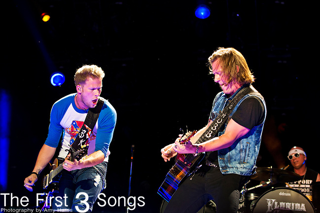 Brian Kelley and Tyler Hubbard of Florida Georgia Line perform at LP Field during Day 3 of the 2013 CMA Music Festival in Nashville, Tennessee.