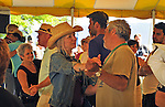 Members of the audience dancing to the music of Steve Riley & the Mamou Playboys, at the Dance Stage of the 2012 Clearwater Festival at Croton Point Park on Sunday, June 17, 2012. Photograph taken by Jim Peppler. Copyright Jim Peppler/2012.