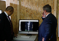 I calchi delle vittime di pompei sottoposte a tac per studiare attraverso l analisi delle ossa abitudini e usi  degli antichi romani<br /> <br /> A working team appointed by the Archaeological Superintendence of Pompeii performs a Cat scan (Computerized axial tomography) on one of thirty casts of the victims of the eruption of Vesuvius in 79 AD in Pompeii, in Napoli, Italy, 29 September 2015.