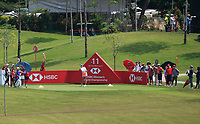 Jessica Korda (USA) in action on the 11th during Round 3 of the HSBC Womens Champions 2018 at Sentosa Golf Club on the Saturday 3rd March 2018.<br /> Picture:  Thos Caffrey / www.golffile.ie<br /> <br /> All photo usage must carry mandatory copyright credit (&copy; Golffile   Thos Caffrey)