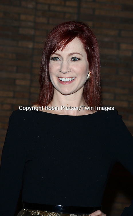 Carrie Preston attends the Glamour Women of the Year Awards on November 10, 2014 at Carnegie Hall in New York City. <br /> <br /> photo by Robin Platzer/Twin Images<br />  <br /> phone number 212-935-0770