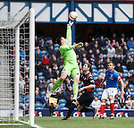 Jamie Barclay makes another fine save for Clyde
