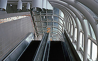 Los Angeles: Beverly Center--Escalator, looking up. Shopping complex on 6-8th floors; first 5 floors, parking.