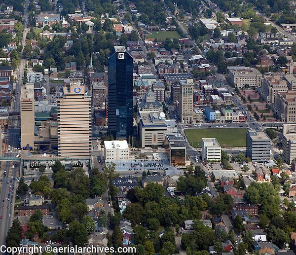 aerial photograph downtown Lexington, Kentucky