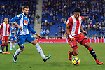 League Santander 2017-2018 - Game: 15.<br /> RCD Espanyol vs Girona FC: 0-1.<br /> Leo Baptistao vs Mojica.